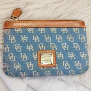 Authentic blue Dooney & Bourke small purse wallet